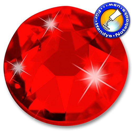 100 Stück SWAROVSKI 2088 XIRIUS KEIN Hotfix, Light Siam (Rot), SS16 (Ø ca. 4 mm), Strasssteine zum Aufkleben