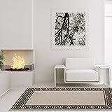 carpet city Teppich Modern Designer Wohnzimmer Villa Sisal Mäander Grau Schwarz 160x230 cm