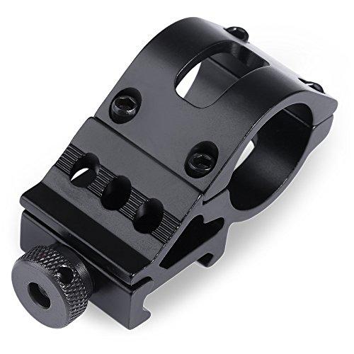 Wenquan 2,5 cm 25 mm Taschenlampe Jagd Zielfernrohr Adapter Halterung Weaver für 20 mm Picatinny Schiene (Farbe: Schwarz) -