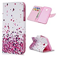 For Galaxy J5 2017 Case MAXFE.CO Smooth PU Leather Wallet Flip Case Cover Magnetic Closure Folio Kickstand Shell Card Holders Money Clip Case For Samsung Galaxy J5 2017 - Little Love