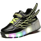 KIPTOP® Zapatillas con Ruedas Deportivas deportivas carrefour para niños con 5 colores LED parpadeante colorido estilo alas de ángel para Niños /Niñas