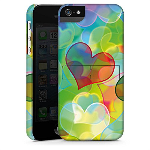 Apple iPhone X Silikon Hülle Case Schutzhülle Love Plexi Bunt Herz Premium Case StandUp