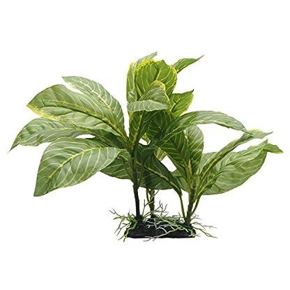Fluval Yellow Stripe Spathiphyllum Plant for Aquarium, 9-Inch 1
