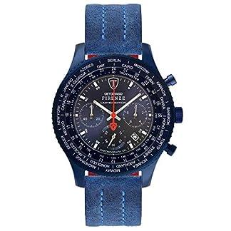 DETOMASO Firenze XXL All Blue Limited Edition Reloj de Pulsera para Hombre, cronógrafo, analógico, Cuarzo, Carcasa de Acero Inoxidable Azul, Esfera Azul