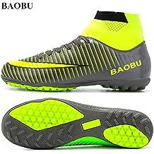 BAOBU Top del alto de tacos de fútbol profesional de adultos Zapatos de atletismo