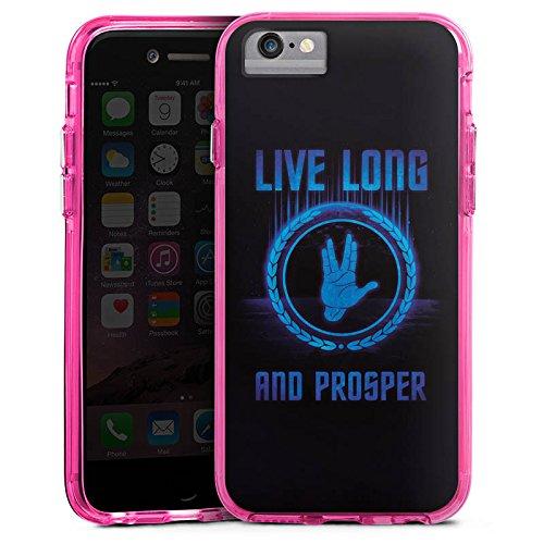 Apple iPhone X Bumper Hülle Bumper Case Glitzer Hülle Startreck Statement Sayings Bumper Case transparent pink
