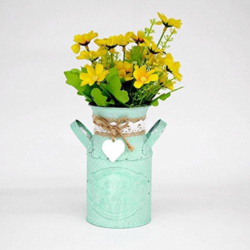 Vintage metal flowers brocche shabby chic vaso iron craft brocca vaso per home office shop pastorale fiori decorazione (non inclusa)