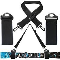 Correa Porta Esquí Snowboard Cinturón Correa ligera para esquís fondo Alpino negro
