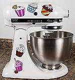 Colorful Cupcakes Kitchenaid Mixer Mixing Machine Decal Art Wrap