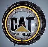 Horloge de Cat Caterpillar Neon Fluo Éclairage jaune-Voir Photos. Disponible également avec cadre noir