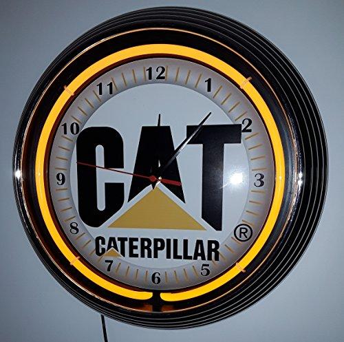 NEONUHR CAT-CATERPILLAR NEON BELEUCHTUNG GELB-ERHÄLTLICH AUCH MIT SCHWARZEN RAHMEN-SIEHE BILDER! (Orange Cat-bild-rahmen)