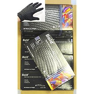 Aurelia Bold Extra Large Black Nitrile Powder Free Disposable Extra Strong Gloves (1000 Gloves)