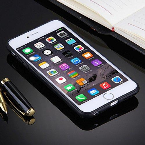 Phone case & Hülle Für iPhone 6 Plus / 6s Plus, geprägte schwarze Streifen und Thom Browne Words Pattern TPU Stoßfänger-PC Schützende rückseitige Abdeckungs-Fall mit Ring-Halter-Standplatz ( SKU : Ip6 Ip6p1032a