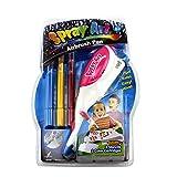 Malerei Handwerk für Kinder, 3Pcs farbigen Stifte mit elektrischer Air Marker Spritze Airbrush Magic Stifte Maker, Art-Sets für Mädchen, Kinder Handwerk Alter 3–10, Weihnachtsgeschenk für Kinder Zeichnen Malen Toys