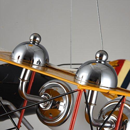 Guo Kinderzimmer-Lichter-Jungen-Schlafzimmer-Flugzeug-Lichter-Kronleuchter-Pers5onlichkeit-kreative Legierungs-Lampen-E27 Lampen-Hafen - 2