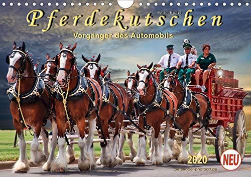 Pferdekutschen - Vorgänger des Automobils (Wandkalender 2020 DIN A4 quer): Kutschen, früher Statussymbol und das Reisefahrzeug schlechthin. (Monatskalender, 14 Seiten ) (CALVENDO Tiere)