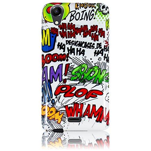 Wiko Rainbow UP 3G Silikon Schutz-Hülle Comic Haha weiche (NICHT FÜR UP 4G) Tasche Cover Case Bumper Etui Flip smartphone handy backcover thematys®