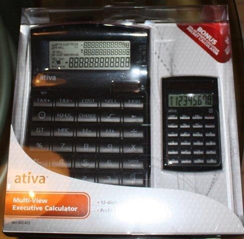 Ativa (mit verstellbarer Office Depot) für horizontale Executive Taschenrechner mit Bonus Taschenrechner