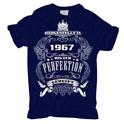Männer und Herren T-Shirt Bis zur Perfektion gereift 1967 körperbetont dunkelblau