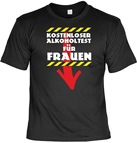 Witziges Sprüche Fun T-Shirt : Kostenloser Alkoholtest für Frauen
