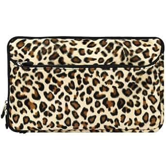 "Vangoddy Neoprene Sleeve Perfect Made for Asus eee pad transformer TF101 /Apple ipad / ipad2/ Samsung Galaxy Tab 10.1 P7510/ Acer Aspire/ Motorola Xoom/ Google Android Tablet/ HP Touch Pad/A1CS X220 TABLET/Creative Ziio/ Viewsonic Viewpad and 10"" 10.1"" 10.2"" Tablet (Leopard)"
