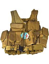 Pellor militar ejército aplicación de la ley táctica chaleco de combate chaleco de carga, amarillo