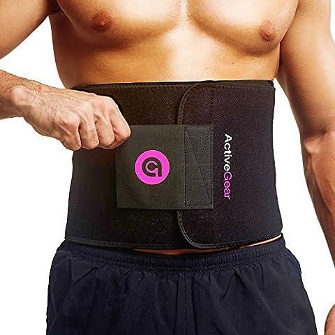 ActiveGear Waist Trimmer Fitnessgürtel Bauchgürtel zur Fettverbrennung - Taillentrimmer Bauchweggürtel für Männer und Frauen - Schwitzgürtel Taille Trainer zum Abnehmen (Rosa Mittel 20cm x (Power Body Shaper)