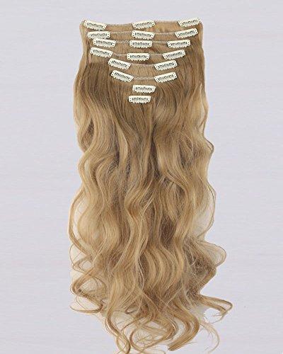 Sintetico Extension, 8pezzi testa intera, 18clip da donna, clip in Hair Extension