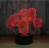zwylove Mountain Car 3D Lampada da tavolo a LED Lampada da notte in acrilico Lampada da tavolo Touch 7 colori Cambio USB per motocicletta Luce per Birthdayt