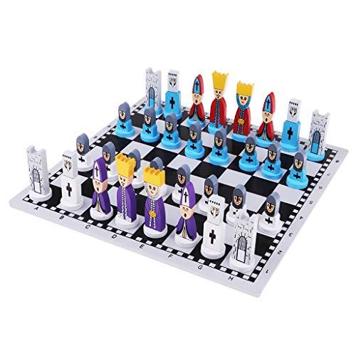 Homyl Jeu d'Echecs en Bois Portable Échiquier de Luxe Chess Game Cadeau Enfant Adulte
