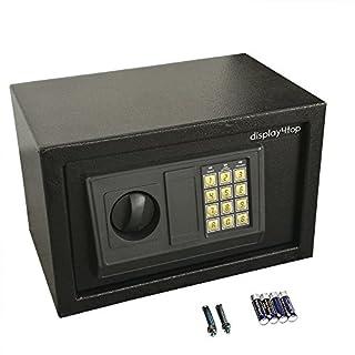 Display4top Electronic Security Safe Digital Lock Fire Proof Jewelry Cash Gun Box w/Full-Digit Keypad & Override Keys,8.5L (SafeB)