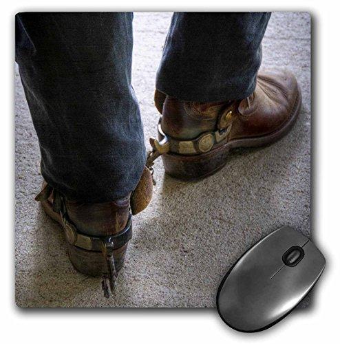 3drose LLC 20,3x 20,3x 0,6cm Maus Pad, Mann mit Cowboy Stiefel mit Sporen (MP _ 98397_ 1)