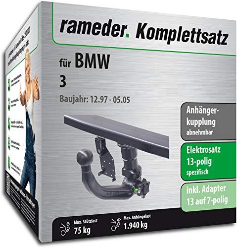 Rameder Komplettsatz, Anhängerkupplung abnehmbar + 13pol Elektrik für BMW 3 (113180-03397-1)