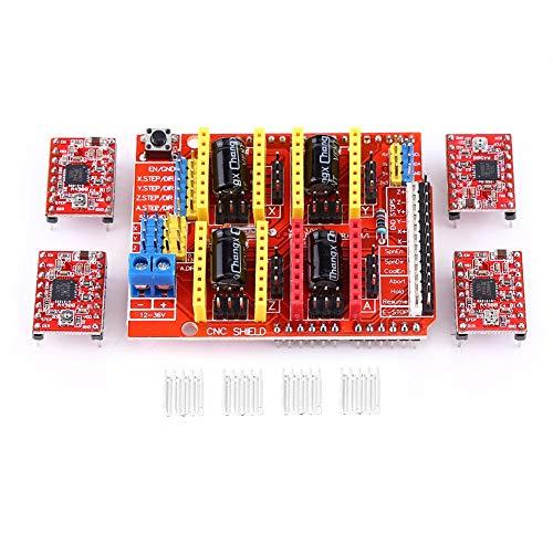 4Pcs Scheda di espansione dello schermo CNC Modulo driver motore passo-passo A4988 con dissipatore per stampante 3D Engraver