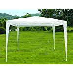 Slimbridge Wakehurst 3 x 3 Metres Fully Waterproof Gazebo Tent Marquee Awning Canopy without Side Panels with Powder Coated Steel Frame for Outdoor Wedding Garden Party, White 7