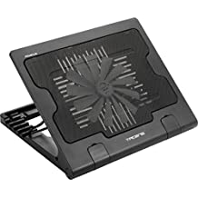 Tacens Abacus - Base de refrigeración para portátil (hasta 17 pulgadas, ventilador 180 milímetros, USB 2.0, ergonómico) color negro