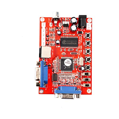 Ballylelly-Red VGA zu CGA/CVBS/S-Video High Definition-Konverter Arcade-Spiel Video Converter Board für CRT-LCD-PDP-Monitor von -