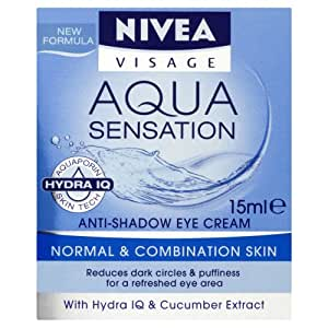 nivea visage aqua sensation cr me soin anti poches anti cernes 15 ml beaut et. Black Bedroom Furniture Sets. Home Design Ideas