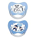 nip 38402-51 Schnuller Family mit Ring Boy, Silikon, 0-6 Monate, kiefergerecht, blau