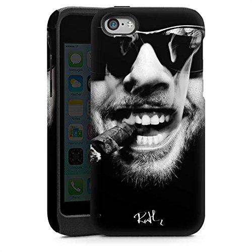Apple iPhone 5s Housse Étui Protection Coque Oliver Rath Cigare Lunettes de soleil Cas Tough brillant