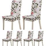 Lot de 6housses de protection pour chaises TEERFU - En Élasthanne - Amovibles et lavables - Pour hôtel ou mariage