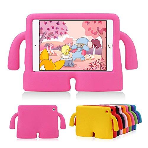Muze, Custodia per IPad Mini 1/2/3/4, per bambini Custodia Cover per Apple iPad Mini 1/2/3/4 con motivo 3D cartoni, leggera protezione anti-urto, a prova di bambino, resistente, in gommapiuma EVA, con supporto.