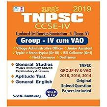 TNPSC CCSE Group 4 (IV) & VAO (Combined) Exam Book 2018 English Medium