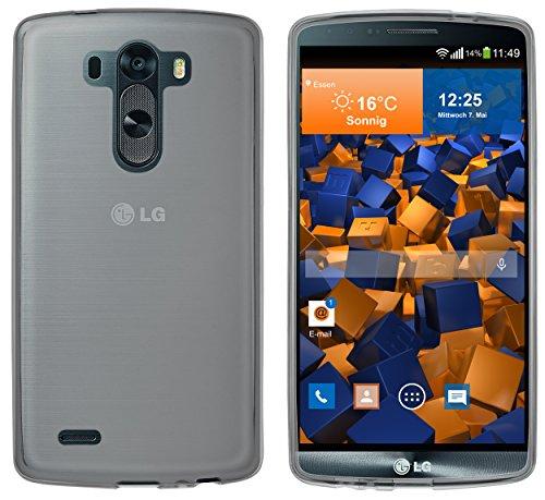 mumbi Schutzhülle für LG G3 Hülle transparent schwarz