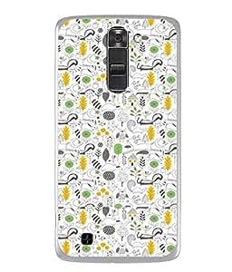 Snapdilla Designer Back Case Cover for LG K10 :: LG K10 Dual SIM :: LG K10 K420N K430DS K430DSF K430DSY (Illustration Wallpaper Backcover Pouch Decoration White Green)