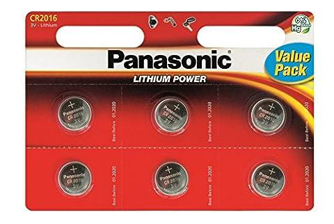Panasonic -12 piles Specialist Lithium CR2016 (Import Royaume Uni)