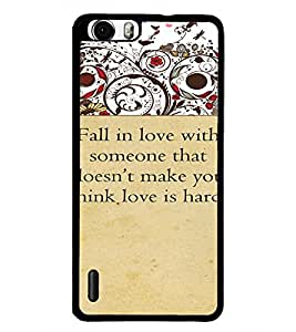 PrintDhaba Quote D-4714 Back Case Cover for HUAWEI HONOR 6 (Multi-Coloured)