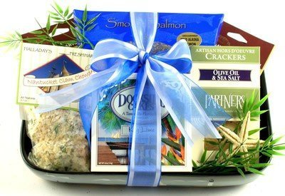 gift-basket-village-dockside-delights-gourmet-gifts-with-ceramic-baker-dish-by-gift-basket-village