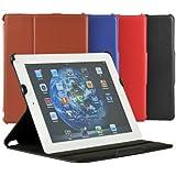 Schutzhülle iPad 2 & 3 iPad 4 Kunstledertasche mit Sleep Wake up Funktion Hülle Case Cover, Color:Braun