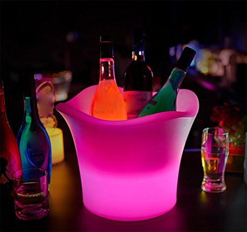 Bar Lumineux Ice Bucket, Canon Léger De Couleur Champagne, Conduit Anti-chute Tonneau De Vin